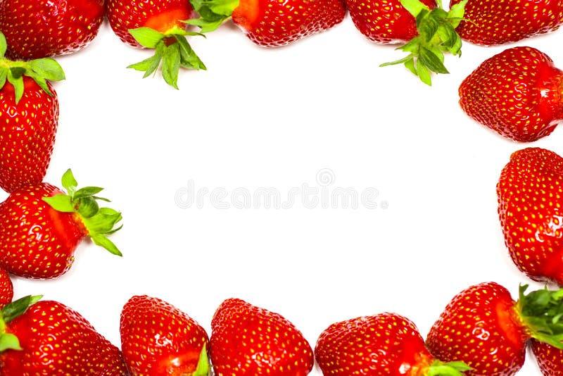 Un sistema de la fresa fresca aislado en el fondo blanco imagen de archivo