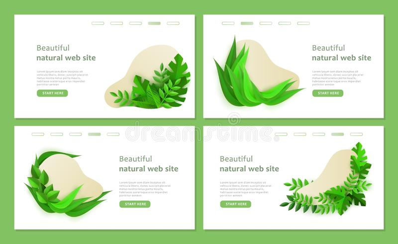 Un sistema de las plantillas del eco para un sitio web natural hermoso libre illustration