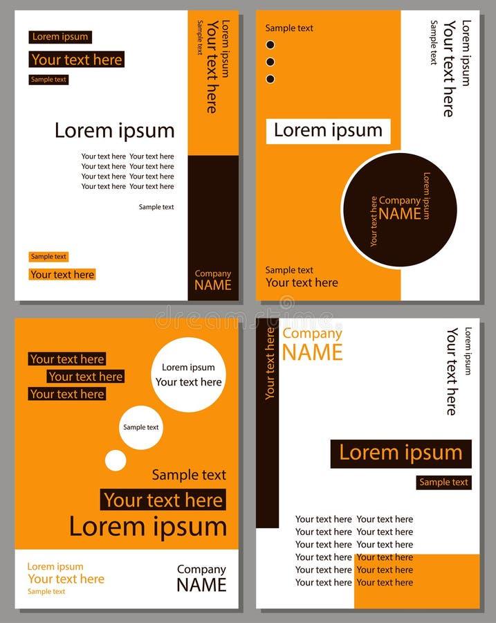 Un sistema de las tarjetas para el texto stock de ilustración