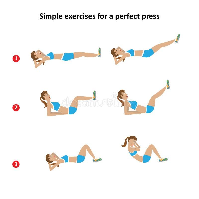 Un sistema de los ejercicios para una figura delgada libre illustration