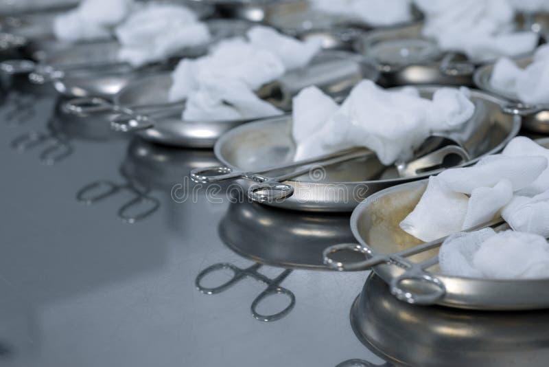 Un sistema de los instrumentos para el examen ginecológico foto de archivo libre de regalías