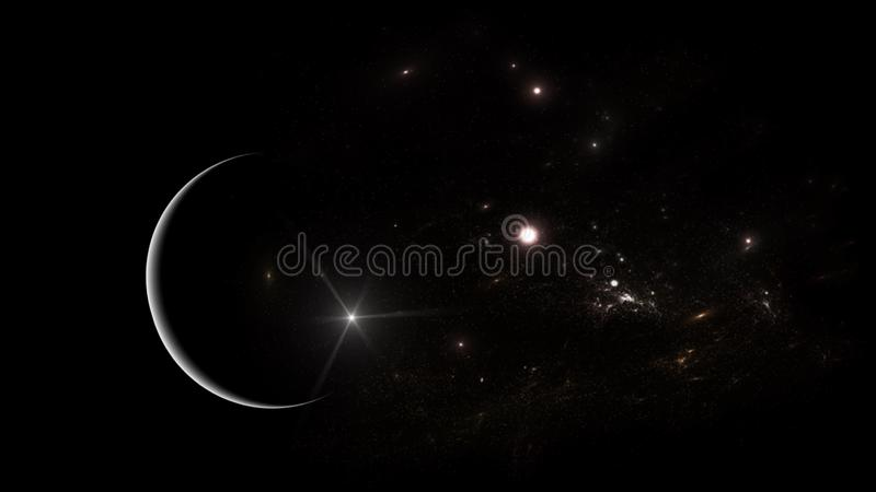 Un sistema de millones o de mil millones de estrellas, as? como el gas y el polvo, ligados por la atracci?n gravitacional libre illustration