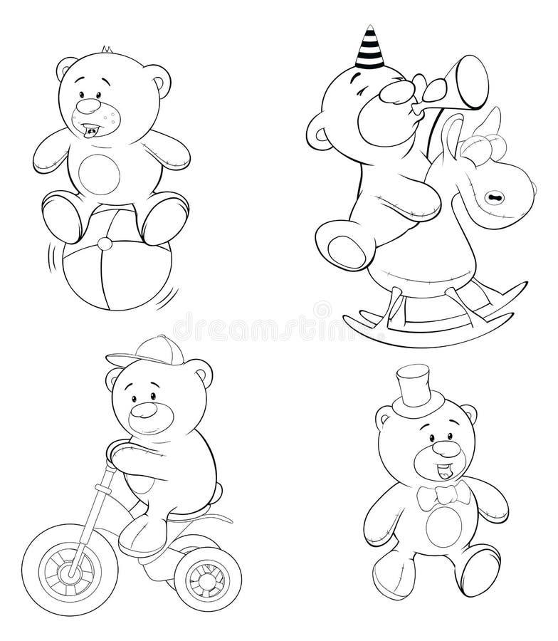 Un sistema de osos Libro de colorante stock de ilustración