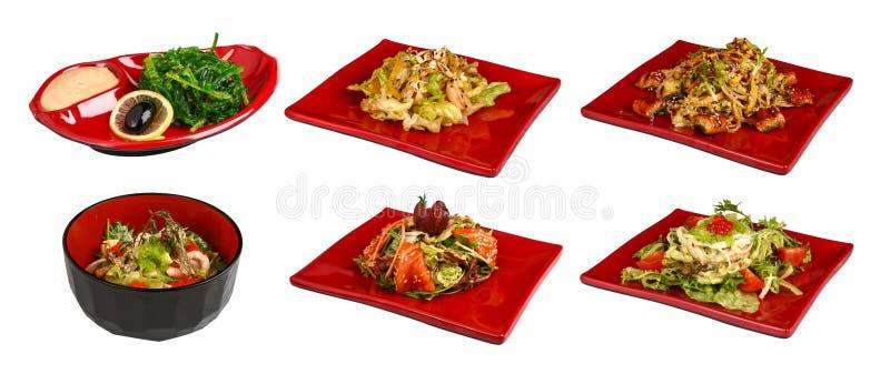 Un sistema de platos japoneses tradicionales imágenes de archivo libres de regalías