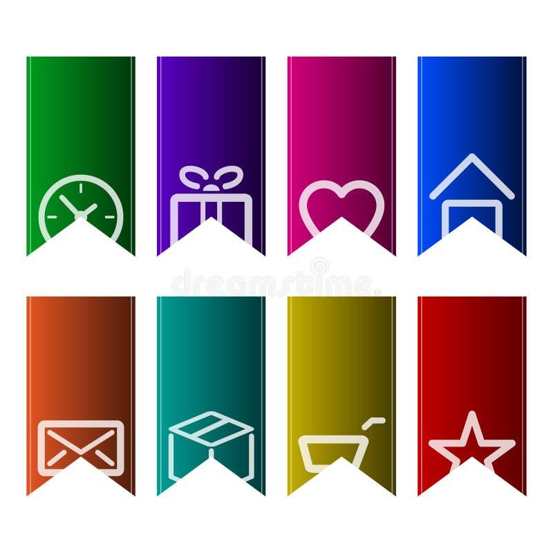 Un sistema de señales coloridas stock de ilustración