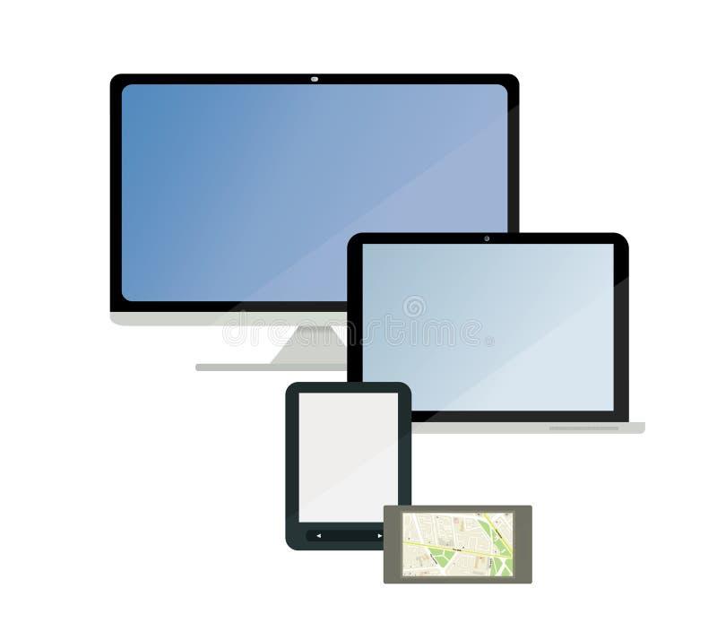 Un sistema de tecnología electrónica libre illustration