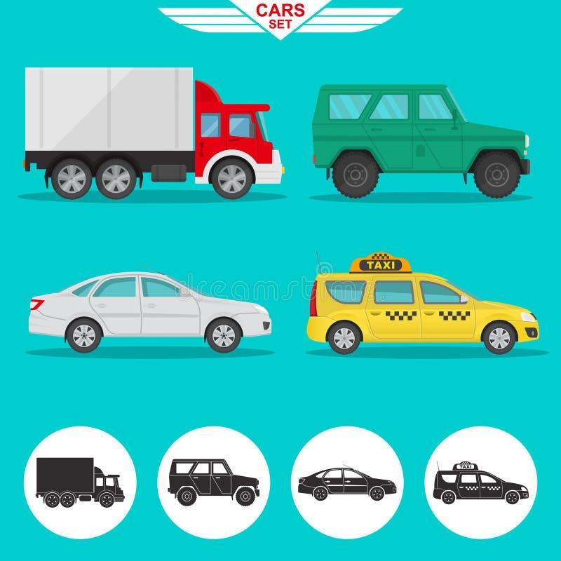 Un sistema de vehículos stock de ilustración