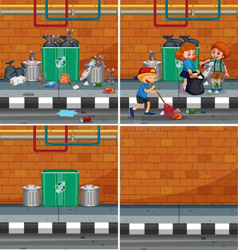Un sistema del elemento de Streetside stock de ilustración