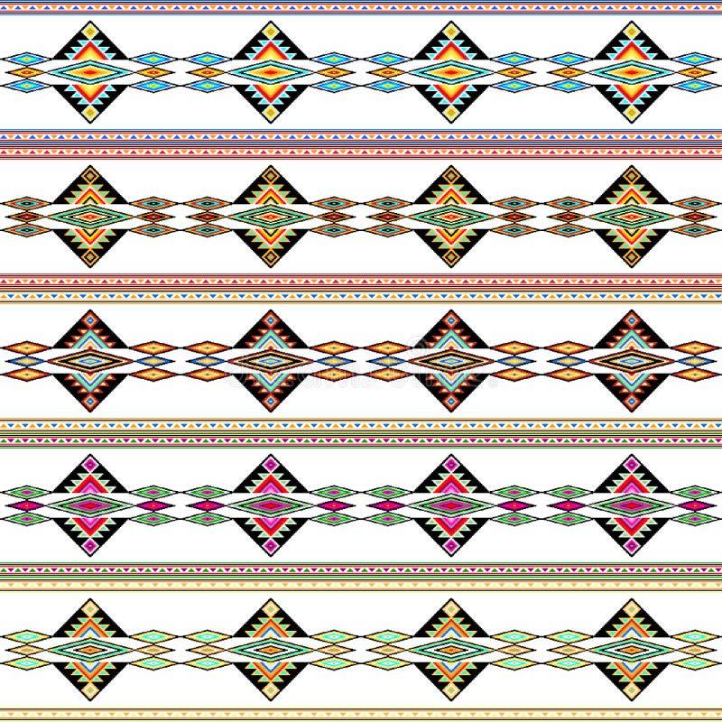 Un sistema del modelo geométrico colorido inconsútil tribal ilustración del vector