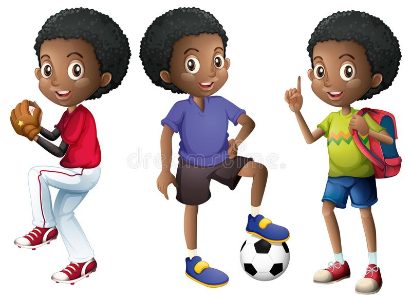 Un sistema del muchacho africano libre illustration