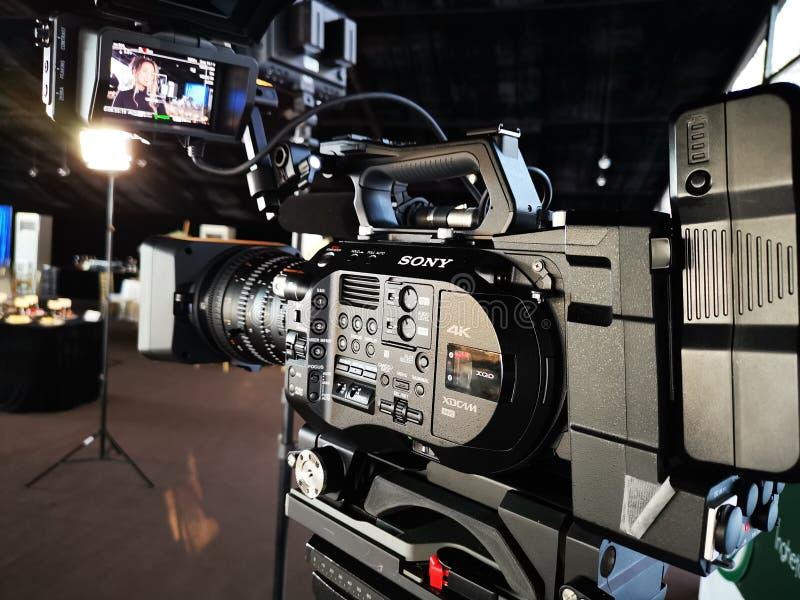 Un sistema eccellente di 35 macchine fotografiche di Sony PXW-FS7 XDCAM fotografia stock libera da diritti