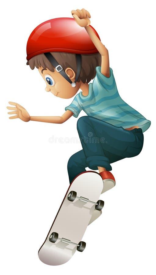 Un skateboarding joven del caballero ilustración del vector