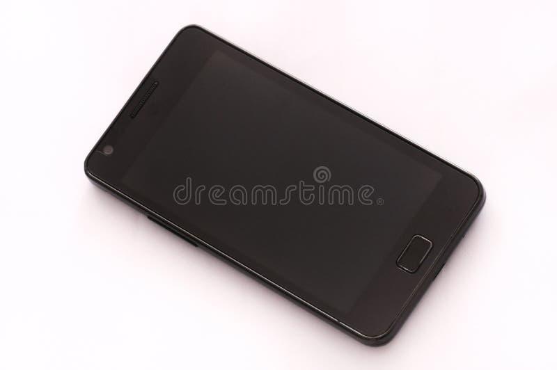 Un smartphone noir d'encadrement images libres de droits