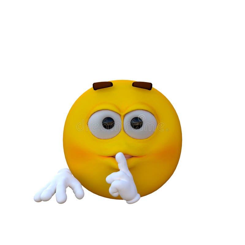 Un smiley jaune avec des mains illustration stock