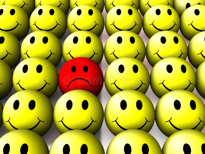 un smiley triste illustration de vecteur