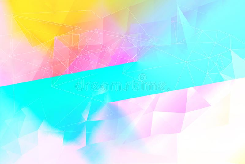 Un soñador, extracto, fondo multicolor, geométrico libre illustration