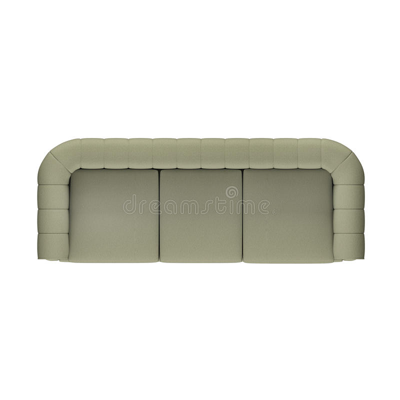 Un sofà di tre sedili fotografia stock libera da diritti