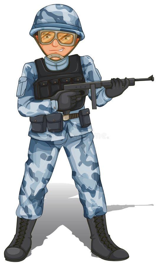 Un soldado valiente libre illustration
