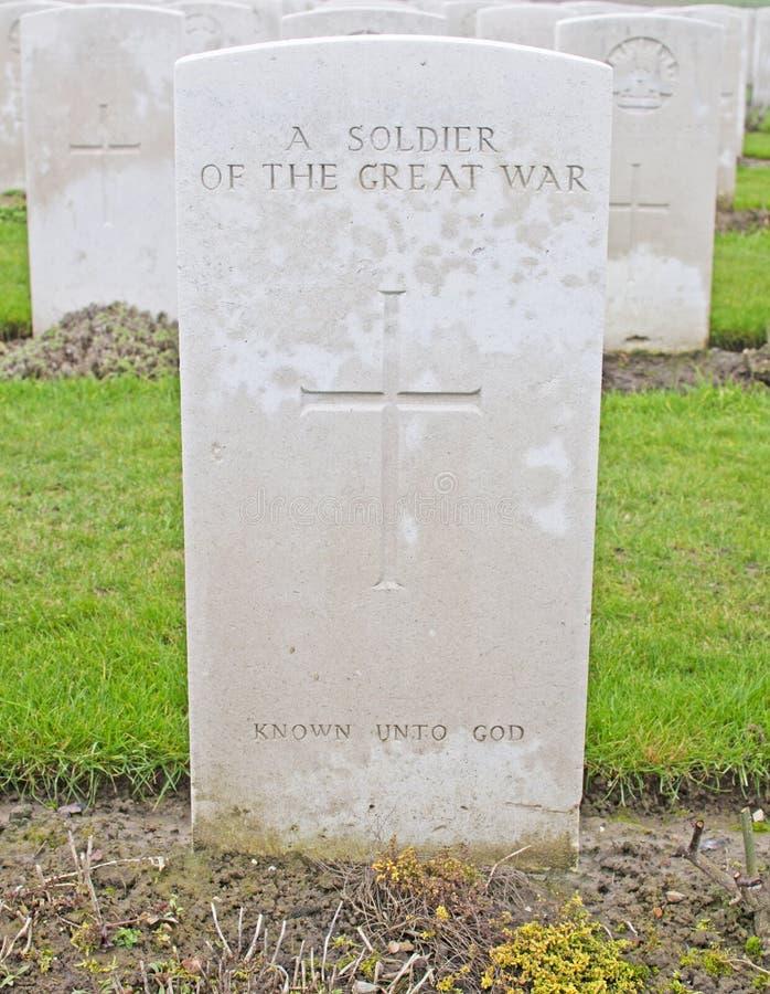 Un soldat allié inconnu images stock