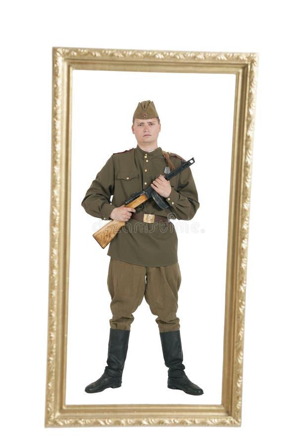 Un soldat de l'armée soviétique photo libre de droits