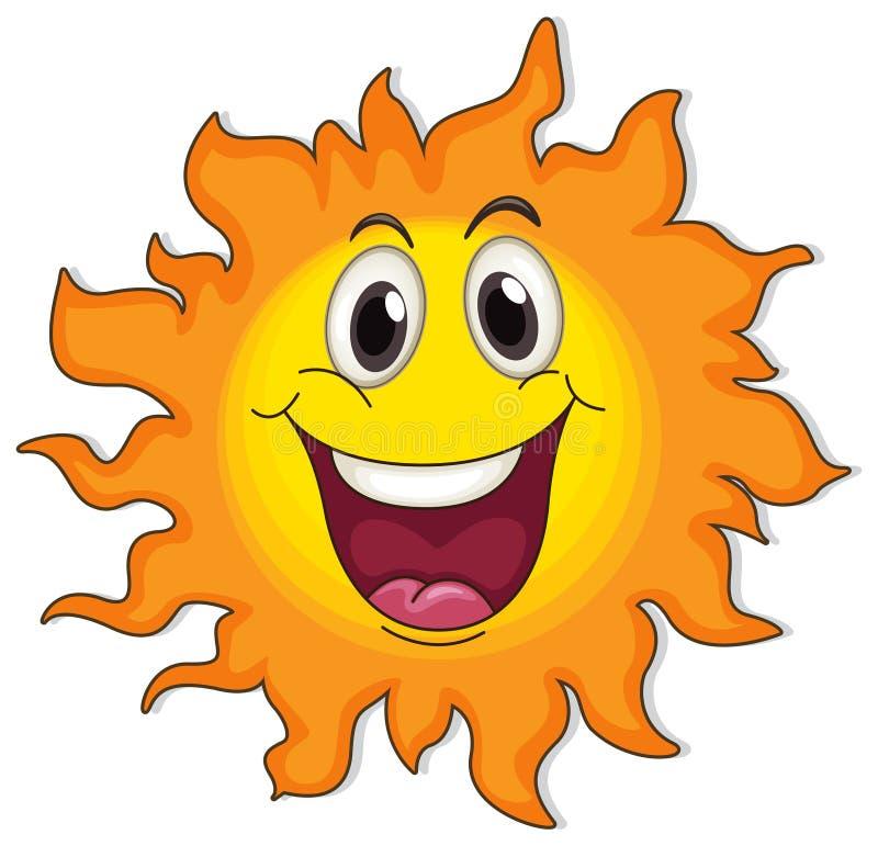 Un sole molto felice illustrazione vettoriale