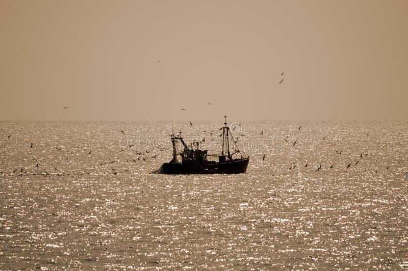 Un solo jour del contre del barco de pesca imagen de archivo
