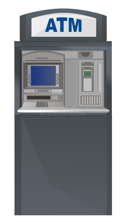 Un soporte del cajero automático libre illustration