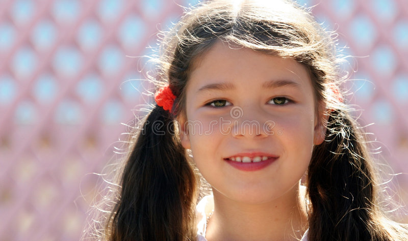 Un sourire de petite fille images libres de droits