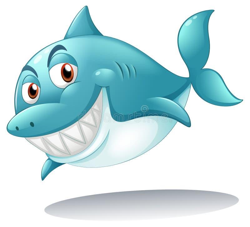 Un sourire de requin illustration de vecteur