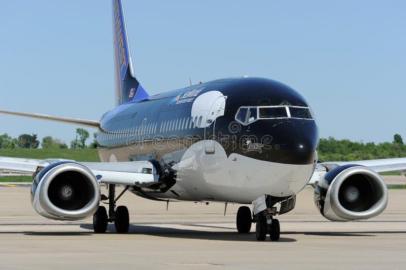Un Southwest Airlines en el aeropuerto foto de archivo