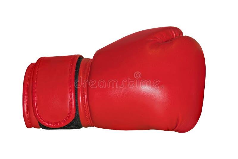 Un studio a tiré d'un gant de boxe rouge image libre de droits