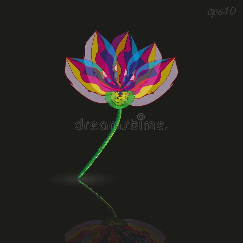 Un style de fleur moderne illustration libre de droits