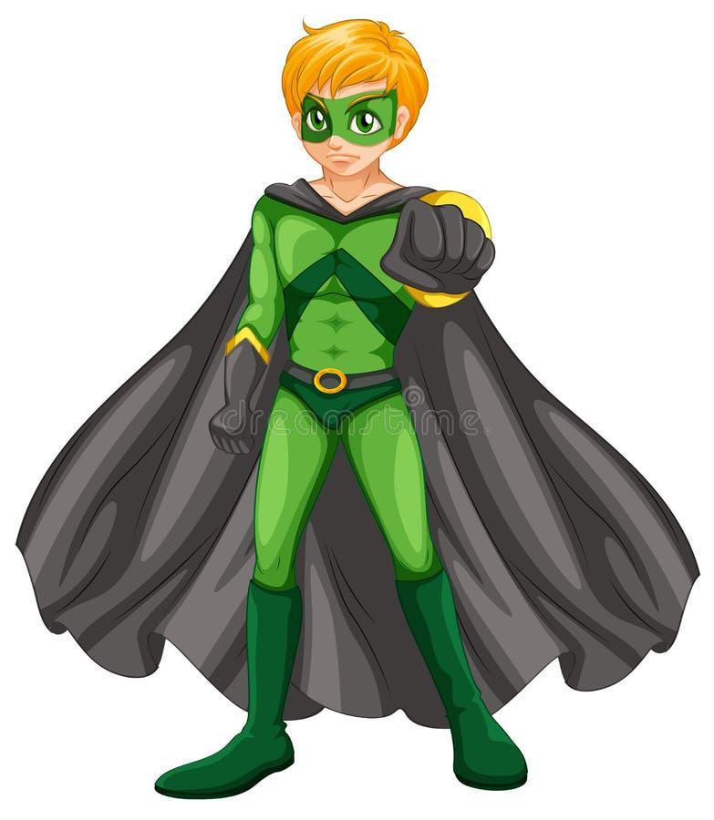 Un supereroe bello illustrazione vettoriale
