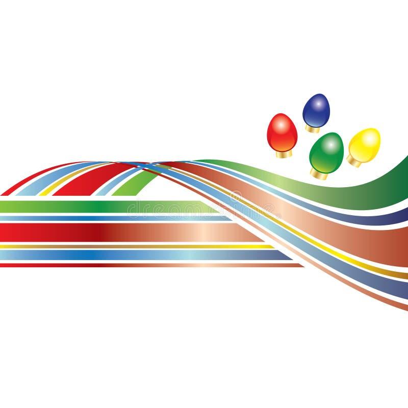 Un swoosh colorido de la Navidad stock de ilustración