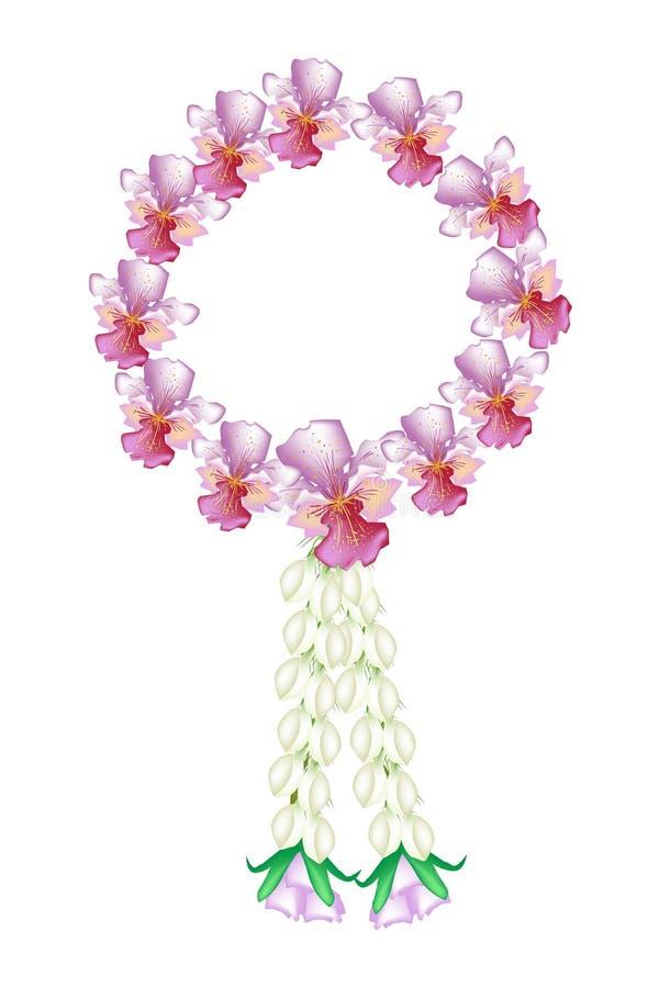 Couleurs roses fra ches de guirlande d 39 orchid e de vanda image stock image du neuf inde 29868803 - Symbole de l orchidee ...