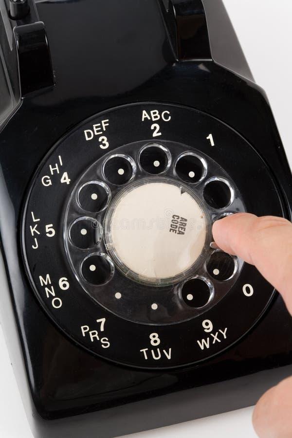 Un téléphone noir image libre de droits