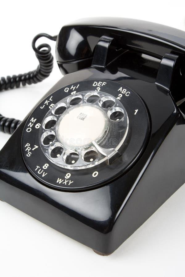 Un téléphone noir photographie stock