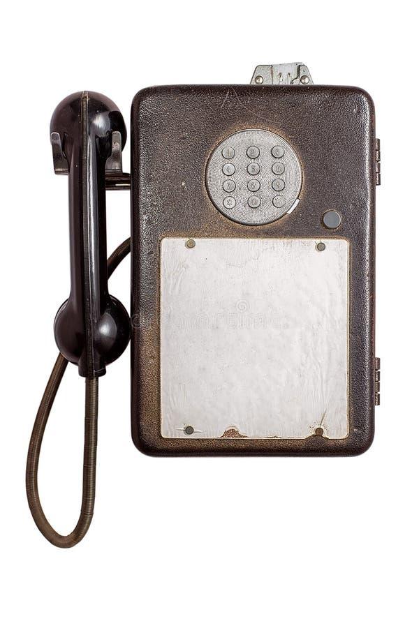 Un téléphone payant de vintage photo libre de droits