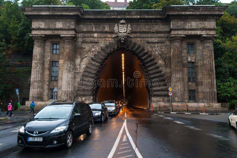 Un túnel en Budabest foto de archivo