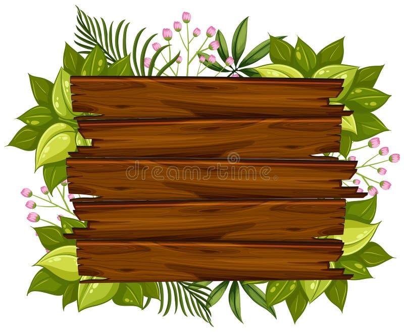 Un tablero de madera natural stock de ilustración