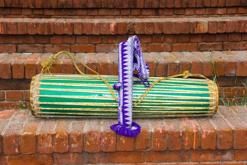 Un tambour d'Assam, Inde image libre de droits
