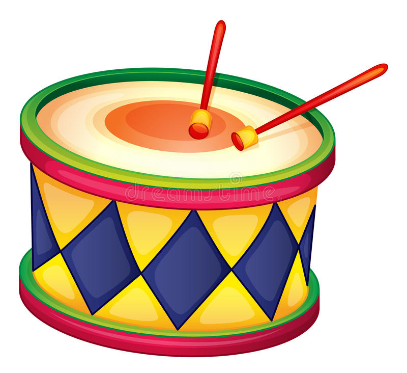 Un tamburo illustrazione vettoriale