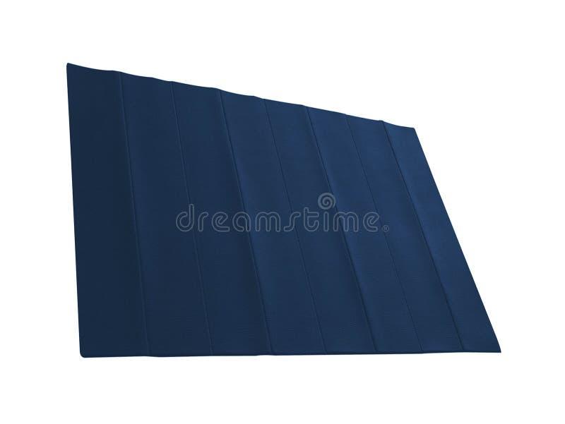 Un Tapis Bleu De Forme Physique Sur Le Blanc Image Stock Image