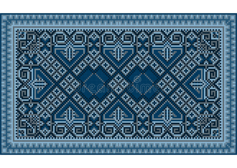 un tapis oriental de raffinage de vintage luxueux avec bleu fonc illustration de vecteur. Black Bedroom Furniture Sets. Home Design Ideas