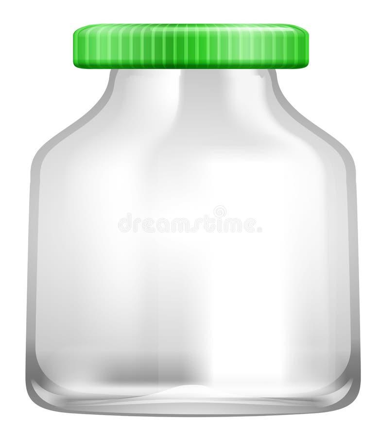 Un tarro transparente de cristal stock de ilustración