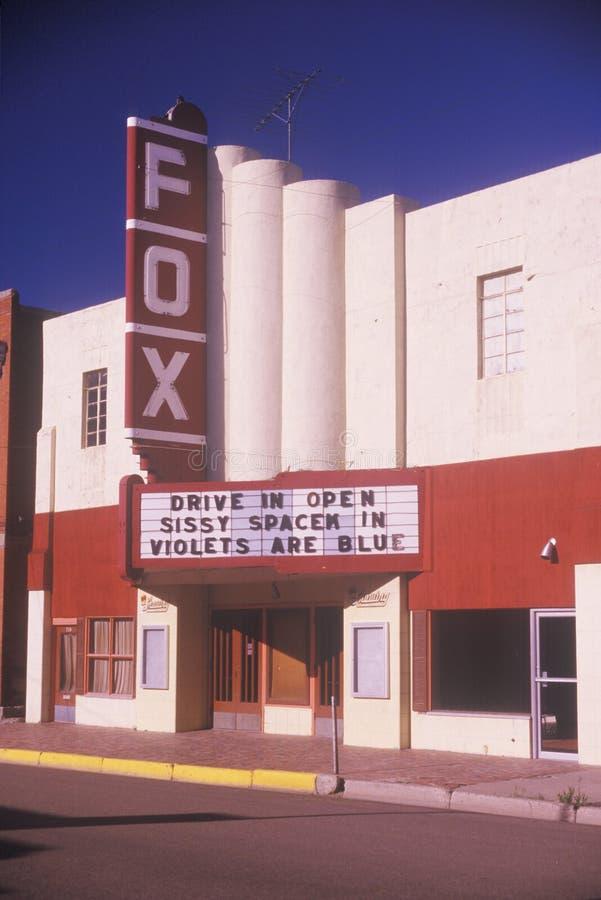 Un teatro de película pueblerino, Trinidad, CO foto de archivo