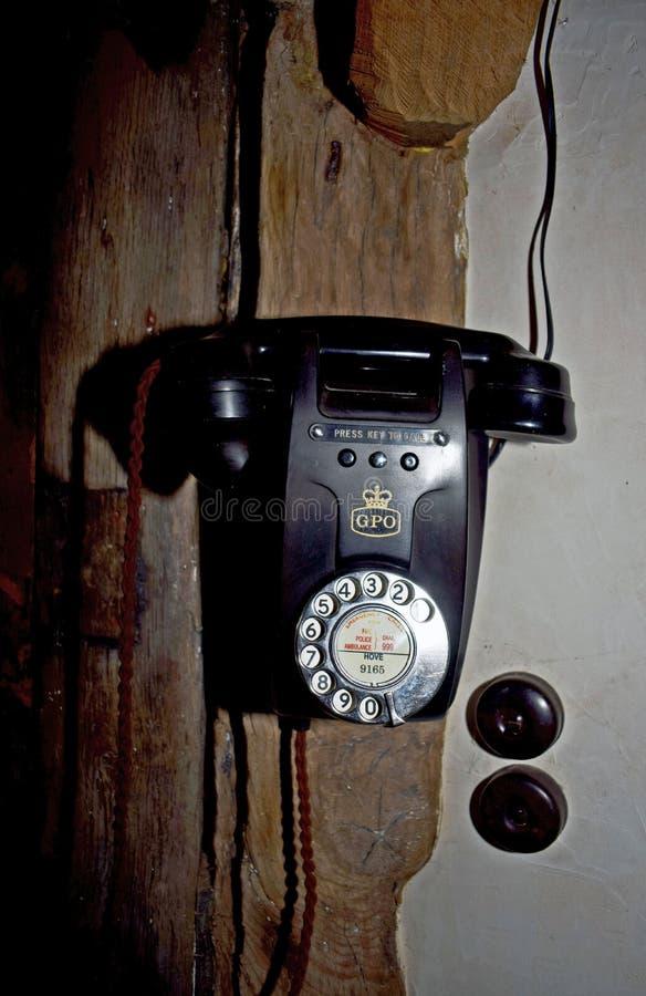 Un telefono antiquato fotografie stock