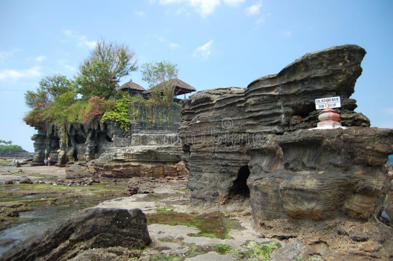 Un tempiale al lotto Bali di Tanah immagini stock libere da diritti