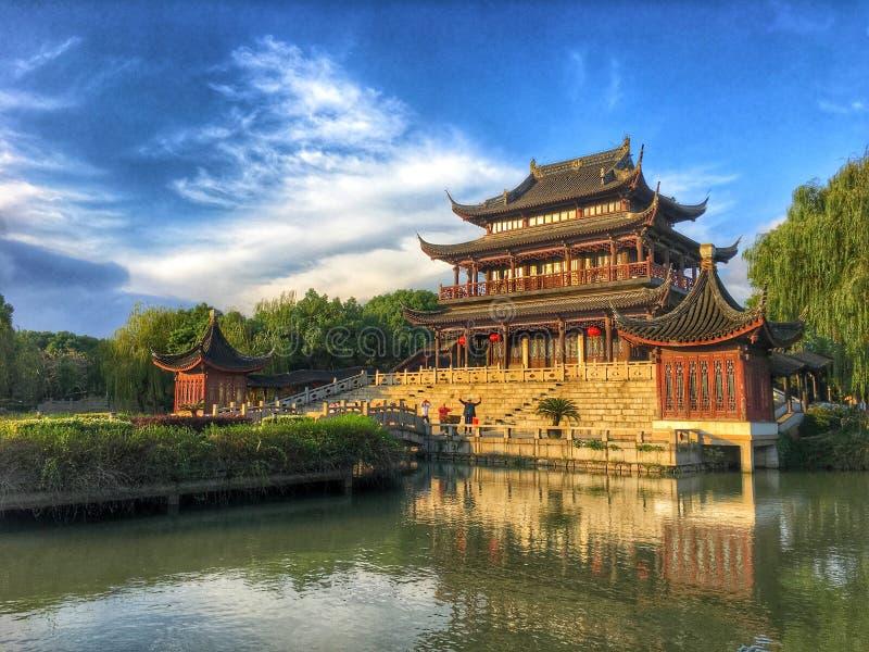 Un tempio antico in Cina Suzhou immagini stock libere da diritti