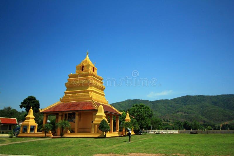 Un tempio buddista della Tailandia fotografie stock libere da diritti